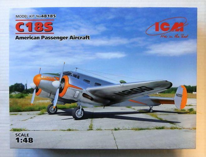 ICM 1/48 48185 BEECH C18S AMERICAN PASSENGER AIRCRAFT