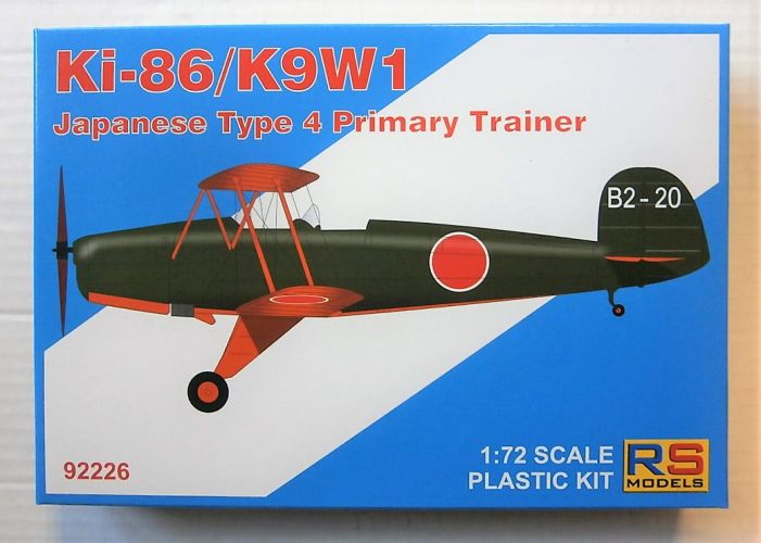 RS MODELS 1/72 92226 KI-86 CYPRESS WANATABE K9W1 JAPANESE TYPE 4 PRIMARY TRAINER