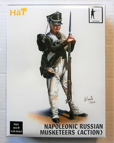 HAT INDUSTRIES 1/32 9321 NAPOLEONIC RUSSIAN MUSKETEERS  ACTION