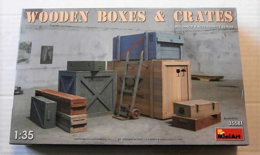 MINIART 1/35 35581 WOODEN BOXES AND CRATES