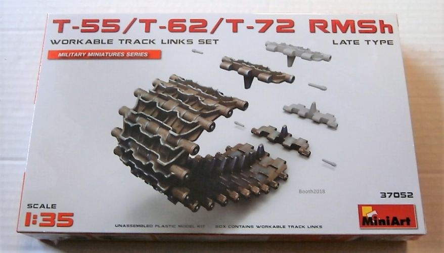 MINIART 1/35 37052 T-55/T-62/T-72 RMSh WORKABLE TRACK LINKS SET LATE TYPE