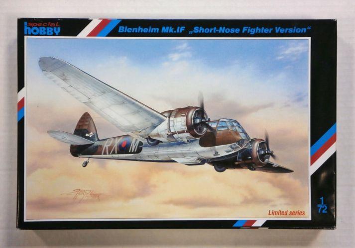 SPECIAL HOBBY 1/72 72205 BLENHEIM Mk.IF SHORT-NOSE FIGHTER VERSION