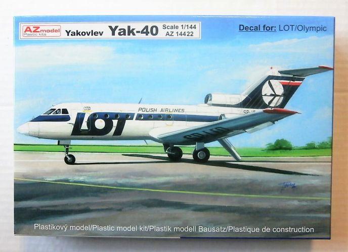 AZ MODEL 1/144 14422 YAKOVLEV YAK-40  LOT/OLYMPIC