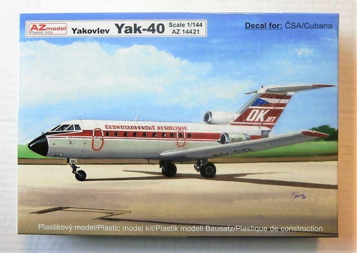 AZ MODEL 1/144 14421 YAKOVLEV YAK-40  CSA/CUBANA