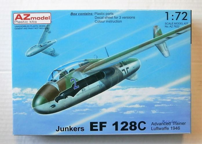 AZ MODEL 1/72 7622 JUNKERS EF 128C ADVANCED TRAINER LUFTWAFFE 1946