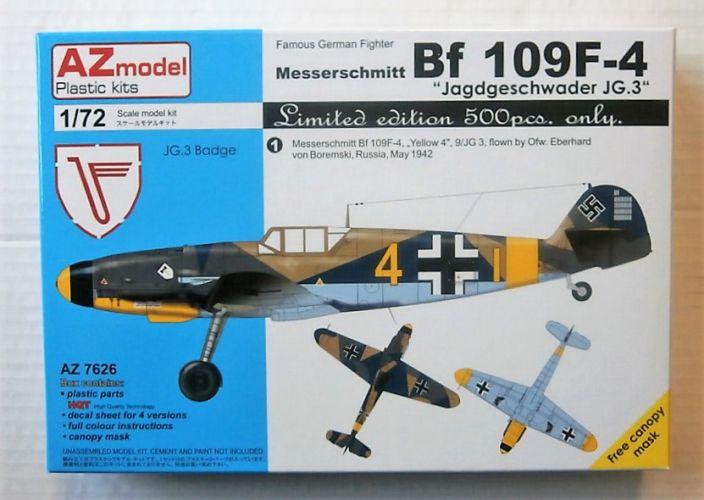 AZ MODEL 1/72 7626 MESSERSCHMITT Bf 109F-4 - JAGDGESCHWADER JG.3  LTD EDITION