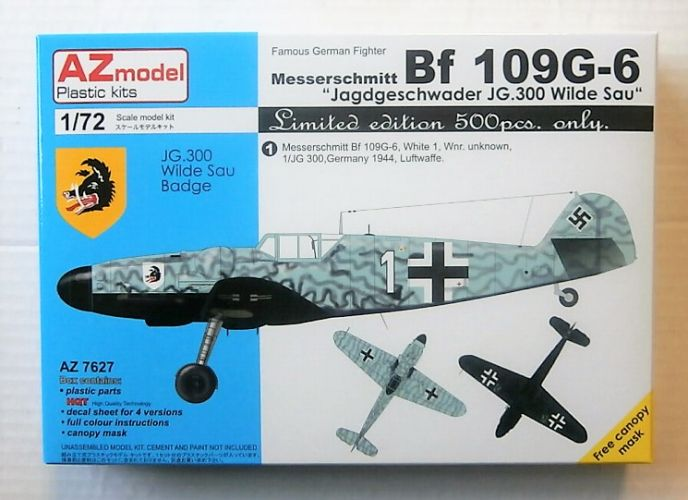 AZ MODEL 1/72 7627 MESSERSCHMITT Bf 109G-6 JAGDGESCHWADER JG.300 WILDE SAU  LTD EDITION