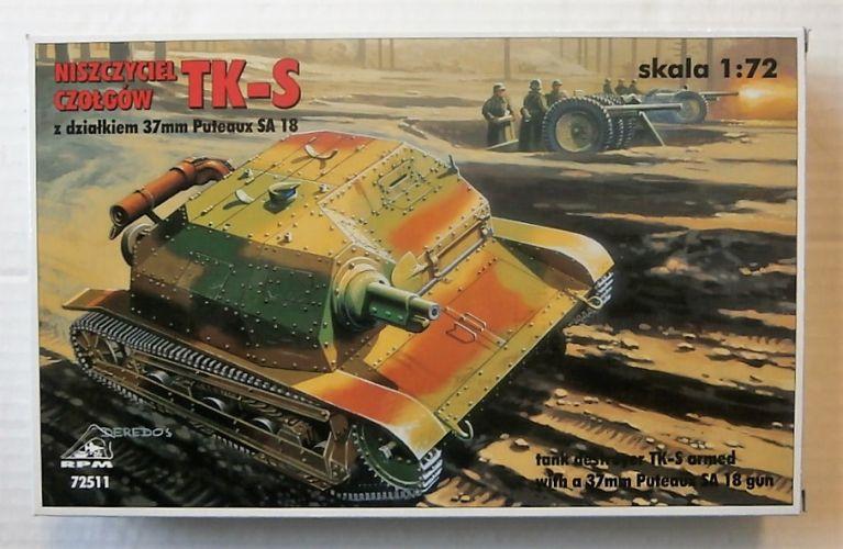 RPM 1/72 72511 LIGHT TANK TK-S WITH 37mm SA 18 GUN