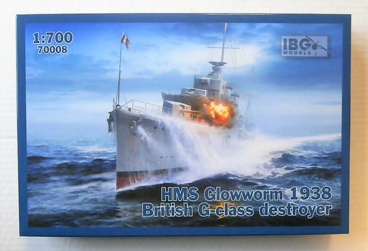 IBG MODELS 1/700 70008 HMS GLOWWORM 1938 BRITISH G-CLASS DESTROYER