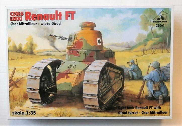 RPM 1/35 35061 LIGHT TANK RENAULT FT CHAR MITRAILLEUR WITH GIROD TURRET