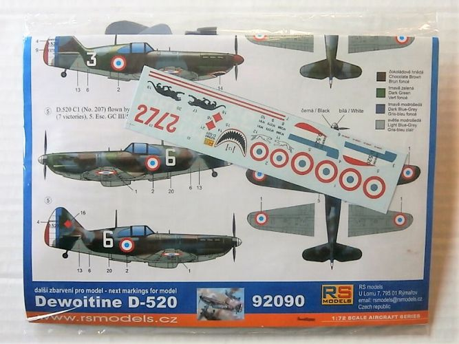 RS MODELS 1/72 92090 DEWOITINE D-520