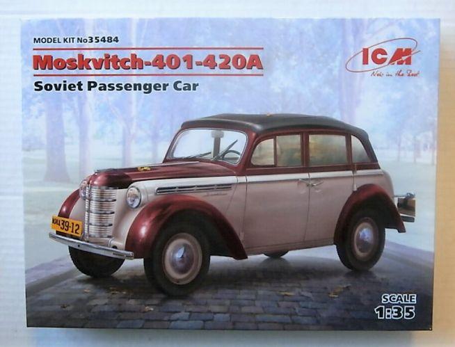 ICM 1/35 35484 MOSKVITCH-401-420A SOVIET PASSENGER CAR