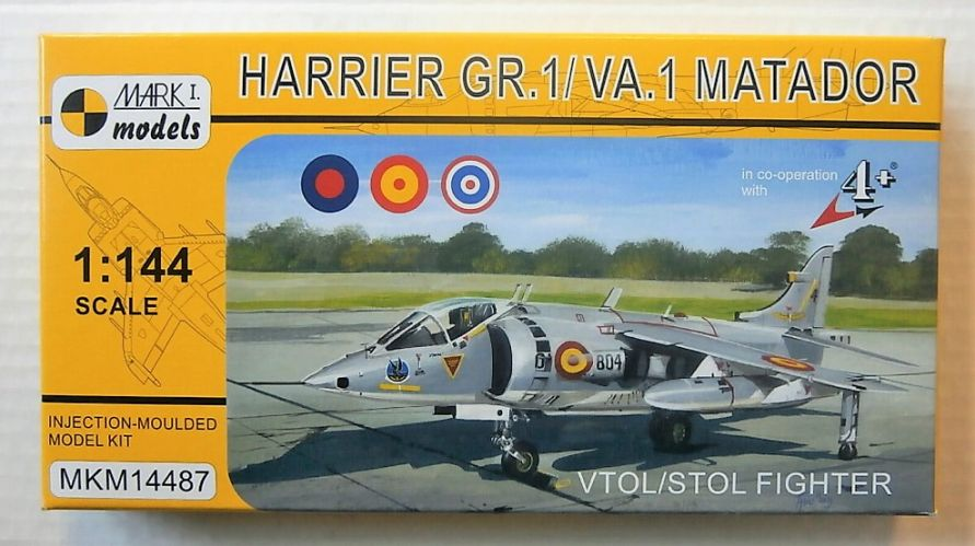 MARK I MODELS 1/144 14487 HARRIER GR.1/ VA.1 MATADOR VTOL/STOL FIGHTER