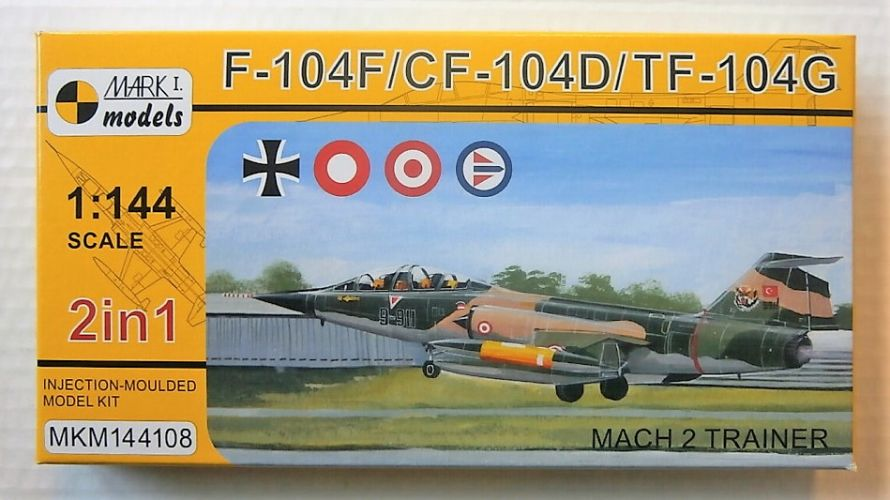 MARK I MODELS 1/144 144108 F-104F/CF-104D/TF-104G MACH 2 TRAINER
