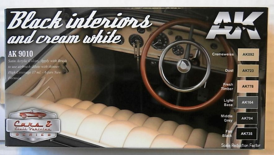AK INTERACTIVE  9010 BLACK INTERIORS AND CREAM WHITE SET