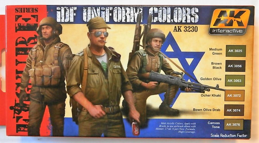 AK INTERACTIVE  3230 IDF UNIFORM COLOURS