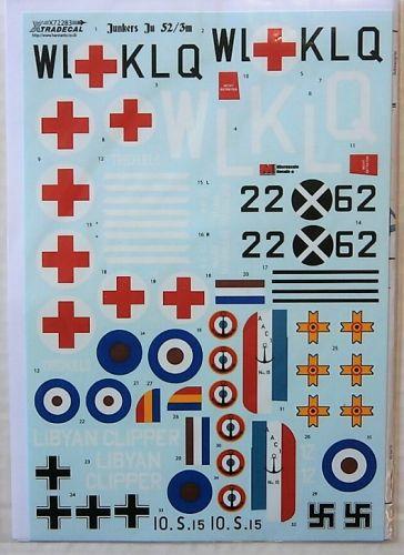 XTRADECAL 1/72 72283 JUNKERS Ju 52/3m