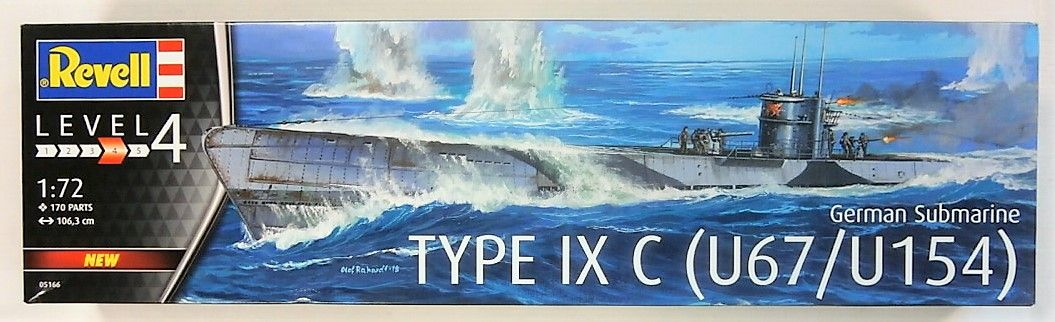 REVELL 1/72 05166 GERMAN SUBMARINE TYPE IXC U67/U154  UK SALE ONLY