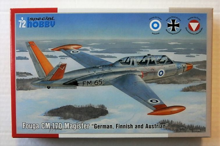 SPECIAL HOBBY 1/72 72373 FOUGA CM.170 MAGISTER  GERMAN FINNISH AND AUSTRIAN