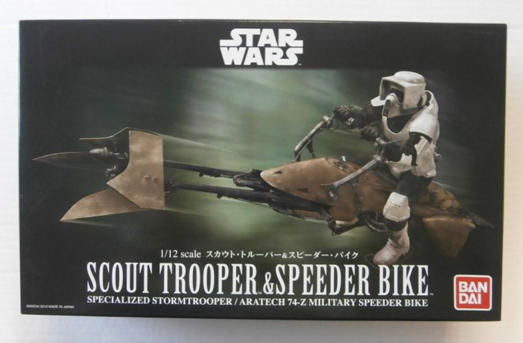 BANDAI 1/12 0196693 SCOUT TROOPER   SPEEDER BIKE