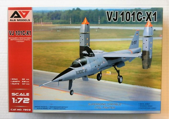 A   A MODELS 1/72 7203 VJ 101C-X1 SUPERSONIC-CAPABLE VTOL FIGHTER