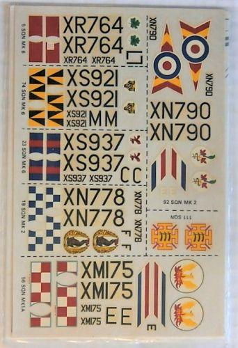 MODELDECAL 1/72 1946. BAC LIGHTNING  SIX ALTERNATIVE FINISHES