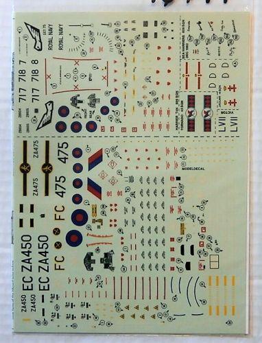 MODELDECAL 1/72 1944. 75 ROYAL AIR FORCE TORNADO GR1 ROYAL NAVY HARRIER T4N