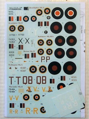 XTRADECAL 1/72 1942. 72104 MEDITERRANEAN TWINS PT.I