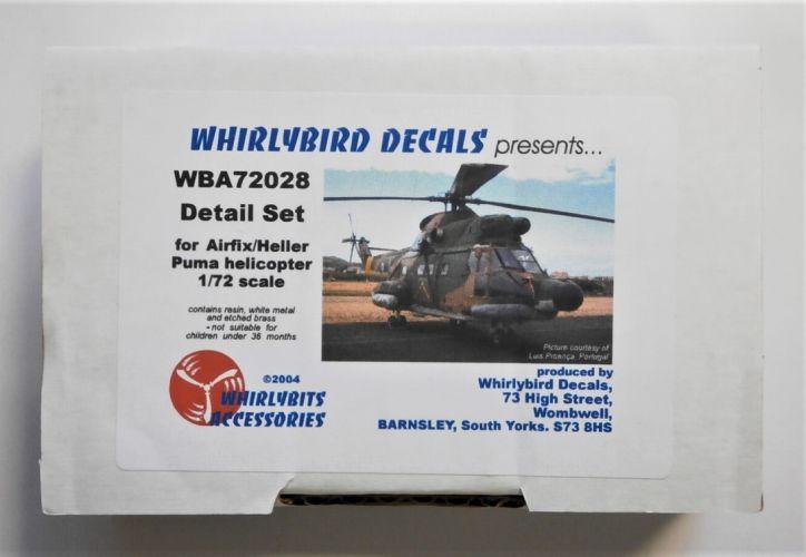 WHIRLYBIRD 1/72 WBA72028 DETAIL SET FOR AIRFIX/HELLER PUMA HELICOPTER