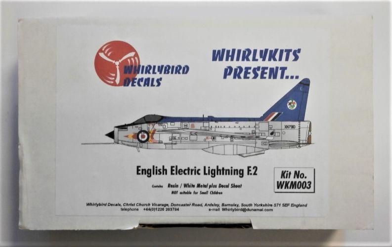 WHIRLYBIRD 1/72 WKM003 ENGLISH ELECTRIC LIGHTNING F.2