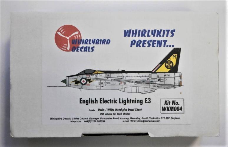 WHIRLYBIRD 1/72 WKM004 ENGLISH ELECTRIC LIGHTNING F.3