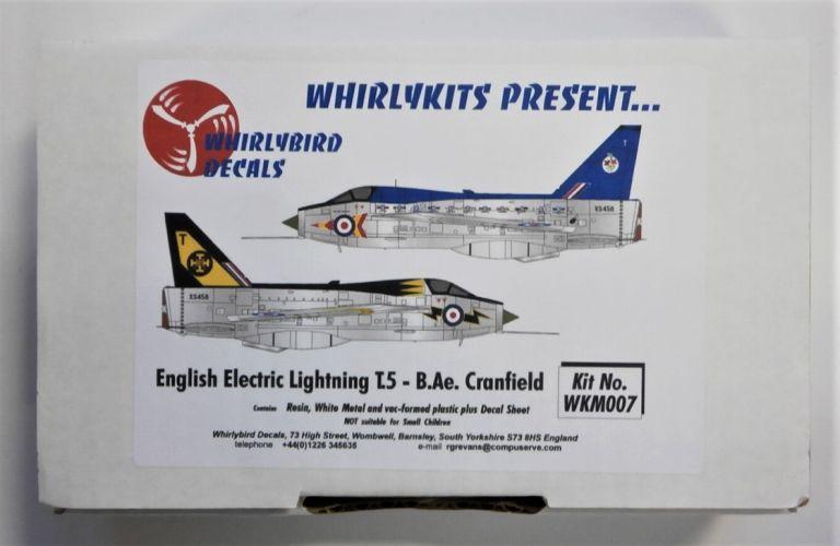 WHIRLYBIRD 1/72 WKM007 ENGLISH ELECTRIC LIGHTNING T.5 - B.Ae. CRANFIELD