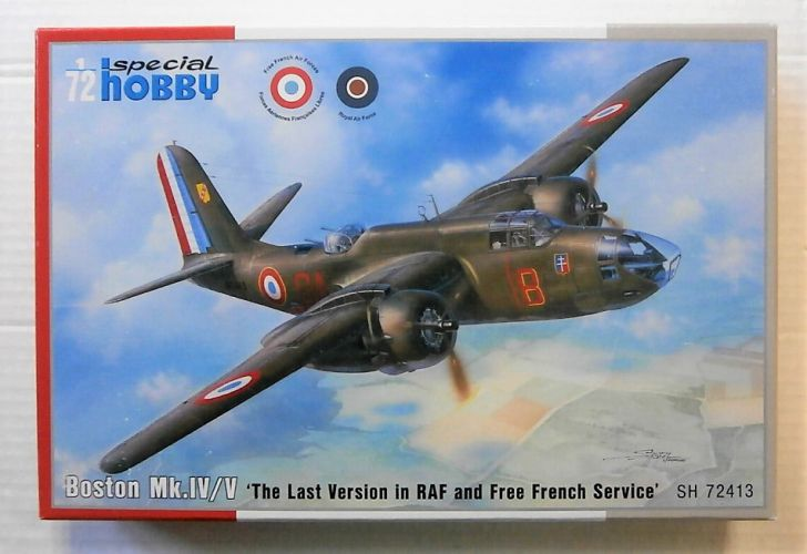 SPECIAL HOBBY 1/72 72413 BOSTON Mk.IV/V  THE LAST VERSION IN RAF AND FREE FRENCH SERVICE