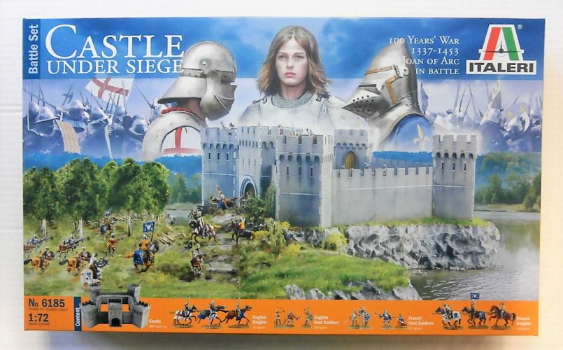 ITALERI 1/72 6185 100 YEAR WAR CASTLE UNDER SIEGE BATTLE SET  UK SALE ONLY