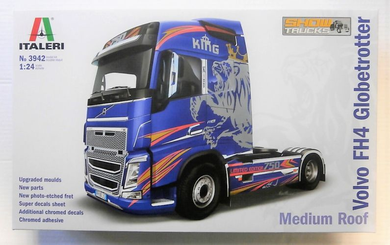 ITALERI 1/24 3942 VOLVO FH4 GLOBETROTTER MEDIUM ROOF