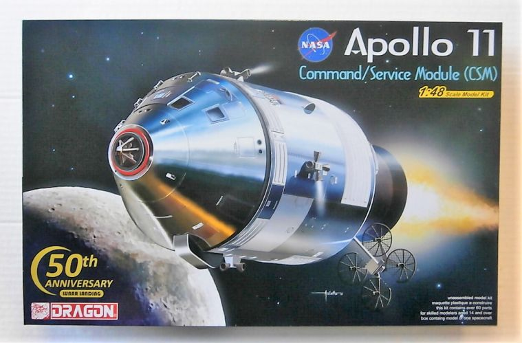 DRAGON 1/48 11007 APOLLO 11 COMMAND/ SERVICE MODULE  CSM  50TH ANNIVERSARY