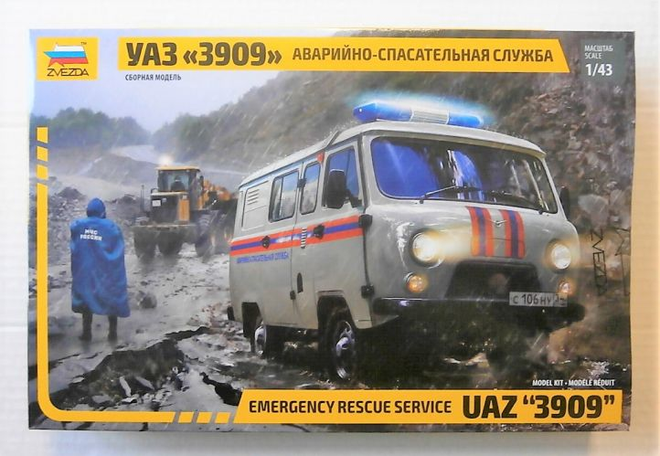 ZVEZDA 1/43 43002 UAZ 3909 EMERGENCY RESCUE SERVICE