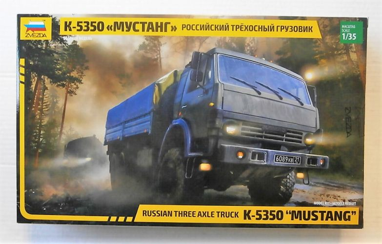 ZVEZDA 1/35 3697 K-5350 MUSTANG RUSSIAN THREE AXLE TRUCK