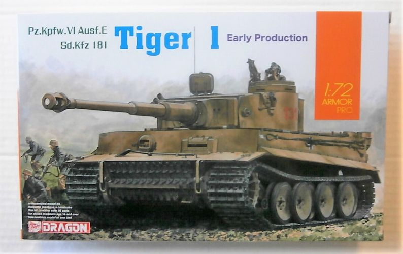 DRAGON 1/72 7482 TIGER I EARLY PRODUCTION