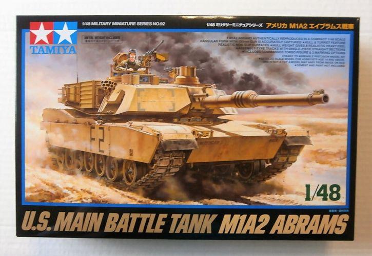 TAMIYA 1/48 32592 U.S. MAIN BATTLE TANK M1A2 ABRAMS