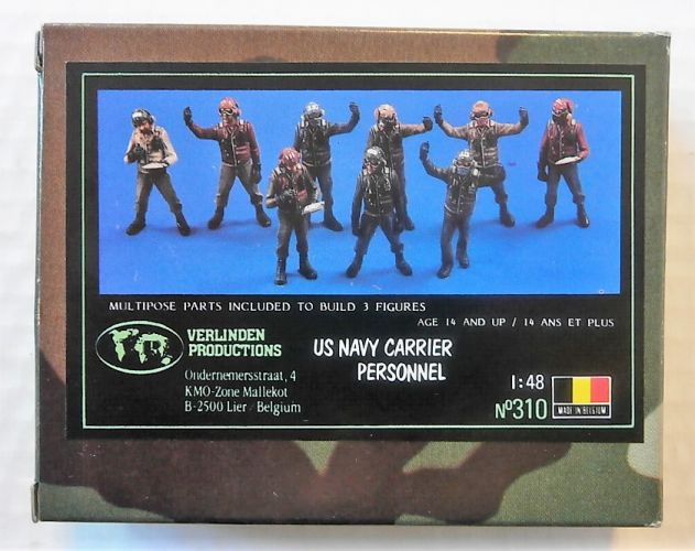 VERLINDEN PRODUCTIONS 1/48 310 US NAVY CARRIER PERSONNEL  3 FIGS