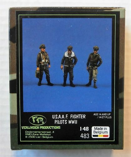 VERLINDEN PRODUCTIONS 1/48 483 U.S.A.A.F. FIGHTER PILOTS WWII