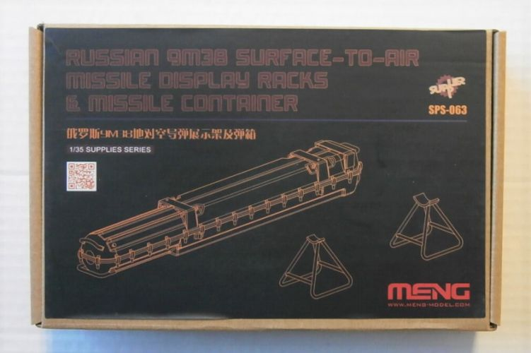 MENG 1/35 SPS-063 RUSSIAN 9M38 SAM DISPLAY RACKS   MISSILE CONTAINER
