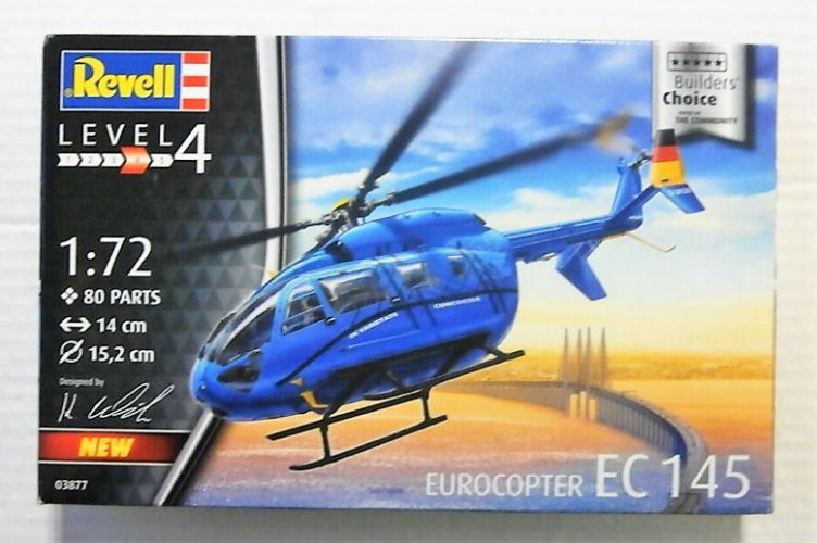 REVELL 1/72 03877 EUROCOPTER EC145  BUILDERS CHOICE