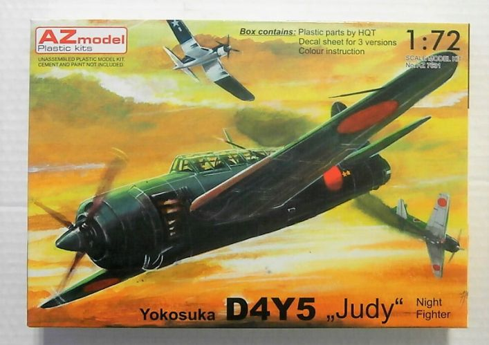 AZ MODEL 1/72 7631 YOKOSUKA D4Y5  JUDY  NIGHT FIGHTER