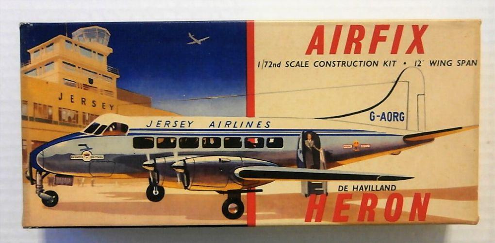AIRFIX 1/72 381 DE HAVILLAND HERON TYPE II BOX