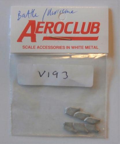 AEROCLUB 1/48 V193 2 x MERLIN 3 STACK EXHAUST STUBS