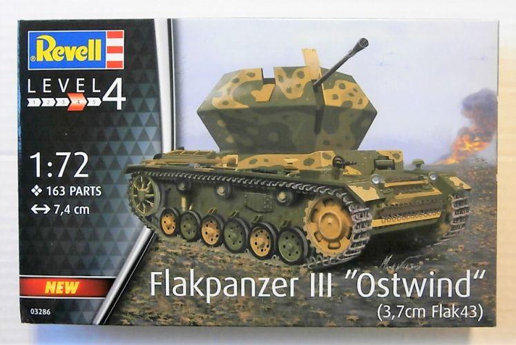 REVELL 1/72 03286 FLAKPANZER III - OSTWIND  3.7 cm FLAK 43