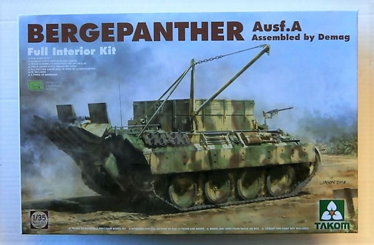 TAKOM 1/35 2101 BERGEPANTHER AUSF.A DEMAG WITH INTERIOR