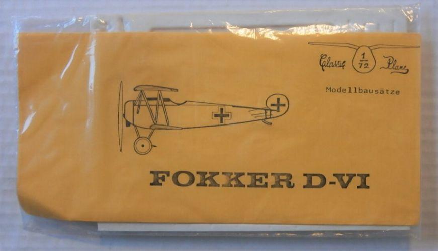 CLASSIC PLANE 1/72 FOKKER D-VI